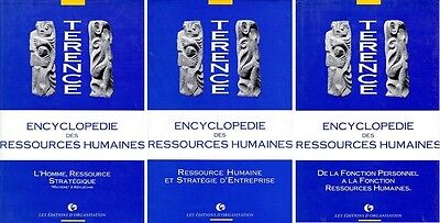 3 Livres Encyclopedie Des Ressources Humaines Tomes 1, 2 & 3-