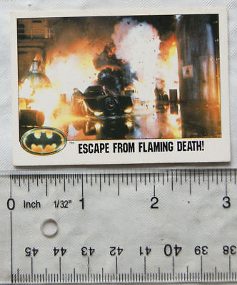 1989 Topps Batman card No.100 - Escape From Flaming Death