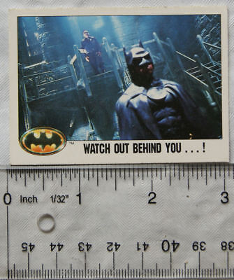 1989 Topps Batman card No.115 - Watch Out Behind You