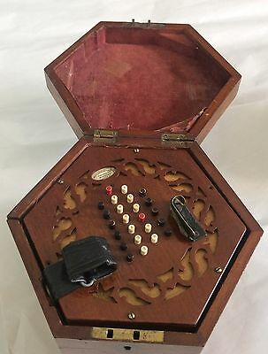 Fine Cased Antique Wheatstone 48 Key English System Concertina