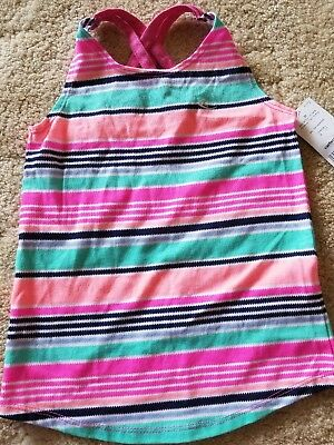Carter's Girls Striped Tank Top Racer Back- Size 3T- NWT