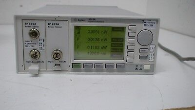 Agilent 8163A  2-Slot Lightwave Multimeter Mainframe with 1x 81635A & 1x 81633A