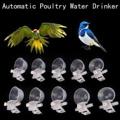 5/10x Automatic Poultry Bird Chicken Water Drinker Cup Plastic Drinking Bowl FT
