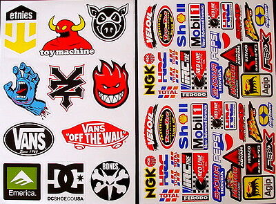 2 Sheets scooter motocross Stickers atv mx Energy Rockstar BMX Bike 89nG decal