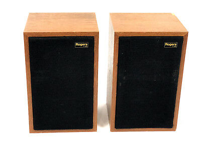 Vintage Rogers LS3/5a Monitor LoudSpeaker Matched Pair Sound Amazing, See Photos