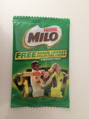 NESTLE MILO 2017 Aussie Cricket Collector Cards Unopened Pack Sealed
