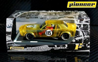Pioneer Slot Car Mustang Notchback X-Ray Racer Yellow Limited Edition #28 Of 70