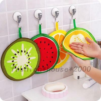 Lovely Fruit Kids Hand Towel Kitchen Hanging Bathroom Cleaning Cloth Washcloth