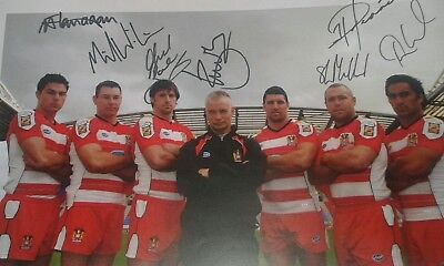 Wigan Warriors Photo.With Autographs.