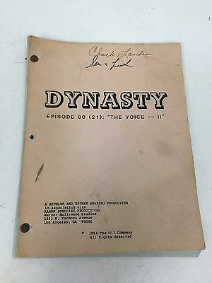 """Signed 1984 Dynasty Script Episode 80 """"The Voice II"""""""