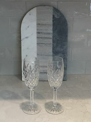 """Pair of Waterford Crystal Pallas 8 1/2"""" Flute Champagne Glasses (Set of 2)"""