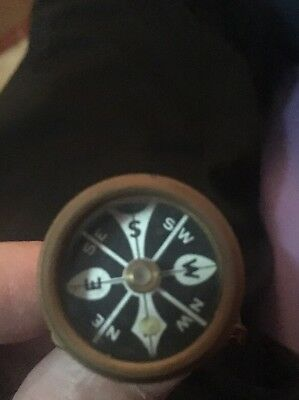 1940 Marble's Brass Pin-Back Compass Gladstone MI & Camouflage Jacket Hunt Fish