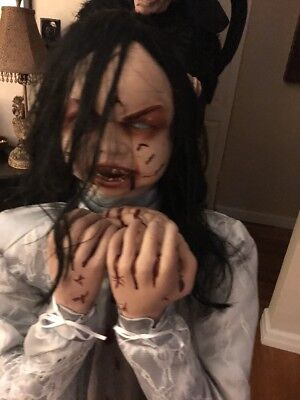 Spirit Halloween Rosemary Zombie Girl Prop Used with box - FREE SHIP.