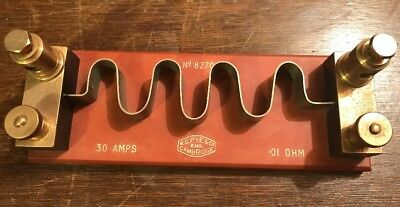 Vintage W G PYE & Co, Cambridge, 30 amp/ .01 ohm  Shunt No. 8270