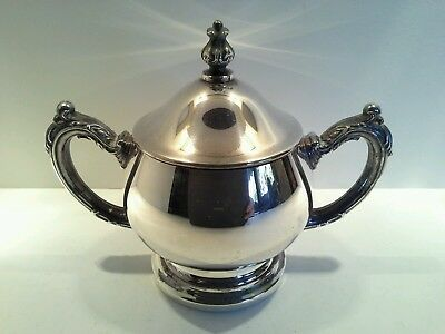 Vintage Oneida USA Silverplated Sugar Bowl