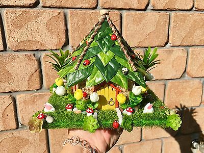 Miniature Fairy Garden & House With Fairy Door Battery TeaLight & Removable Roof