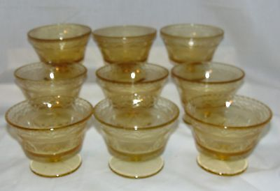 """9 Federal PATRICIAN AMBER *3 1/2"""" SHERBETS*"""
