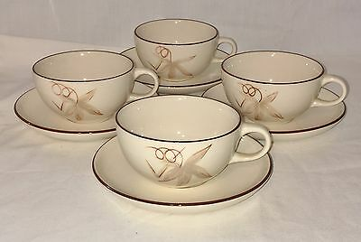 4 Winfield China California * PASSION FLOWER* CUPS & SAUCERS*