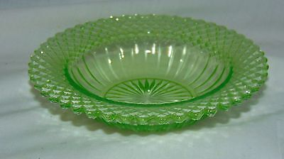 "Anchor Hocking MISS AMERICA * GREEN 6 1/4"" CEREAL BOWL*"