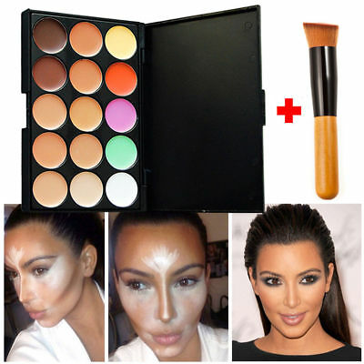 New 15 Shades Colour Concealer Contour Makeup Palette Kit Make Up Set