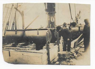 Whaling Photograph: Breaking Up Tryworks, Brig Sullivan 1905 By Edmund D Ashley