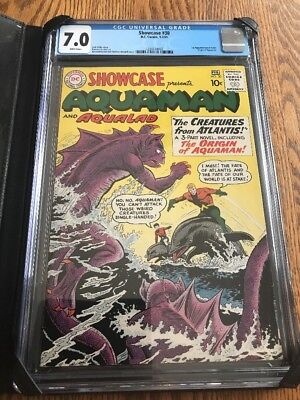 Showcase #30 1st Silver Age Aquaman CGC 7.0 White Pages!! Justice League Movie