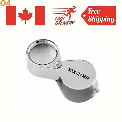 Foldable 30x 21mm Glass Magnifying Magnifier Jeweler Eye Jewelry Loupe Loop Gift