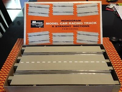 1/24 Monogram #SR3024 2-LANE-CHANGE SLOT CAR TRACK SECTIONS (2) ORIG BOX VINTAGE