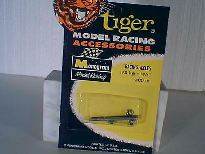 "1/32 Monogram #SR1202 13/4""slot car racing axles MIB L NOS VINTAGE TWO SETS"