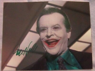 Jack Nicholson Batman The Joker Autographed Signed Mint 8x10