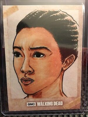 SASHA - 2017 Topps Walking Dead Season 7 ART SKETCH CARD CHRIS WILLDIG 1/1