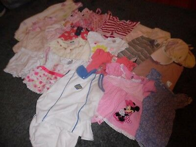 Bulk Baby Girls Size 0 Summer Clothing - 20 Items Euc Inc Pumpkin Patch/osh Kosh