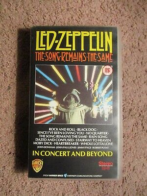 Led-Zeppelin - The Song Remains The Same VHS Tape (1988)