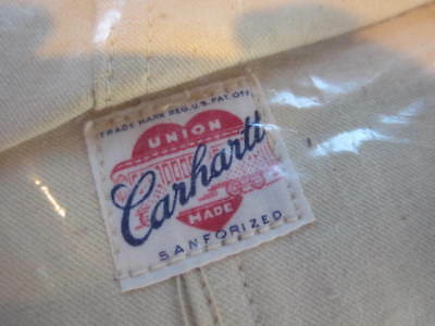 CARHARTT 1950s NEW w/ TAGS Union Made COVERALLS - OVERALLS 40/30 RARE VINTAGE