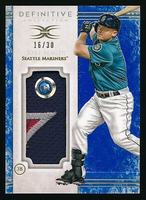 2017 Definitive Collection Kyle Seager Patch - 7/4/2016 Independence Day #16/30