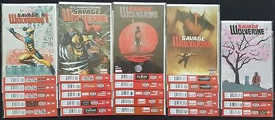 Savage Wolverine # 1 2 3 4 5 6 - 23 Complete Near Mint Set - Frank Cho Covers
