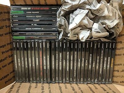 Lot Of 33 Sony Ps1 Games - Used, In Case - Varied Condition - No Doubles!