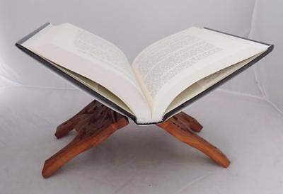 Vintage Hand Carved Book Holder Made in India Himalayan Sheesham Wood Stand