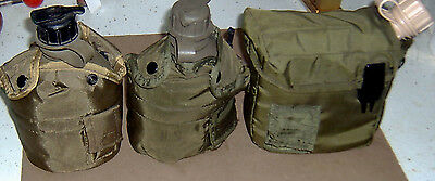 US ARMY STYLE Military LOT OF 3 Canteen