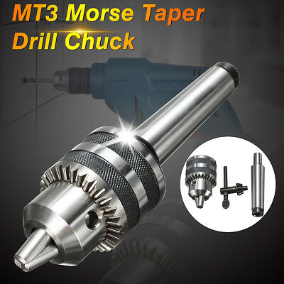 "1/2"" Heavy Duty Drill Chuck W/ MT3 Morse Taper Arbor 3MT For Mini Lathe 1-13mm"