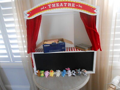 Timber Puppet Theatre,finger Puppets + Chalks + Chalk Duster