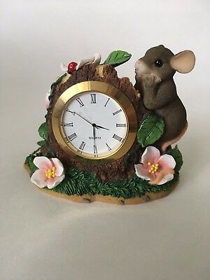 Charming Tails Office Gifts 93/300 Mouse on a Clock