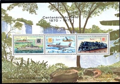 Angola, C36A, S/s, Mnh, Vf, Perf., 1970 - Centenary Of Postage Stamps Of Angola