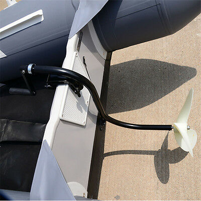 Manual hand Operated Outboard Motor Inflatable Boat Trolling Motor Propeller AU