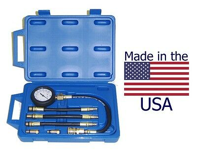 Deluxe US Made Compression Tester Kit - With Hoses and Quick-Coupler Design
