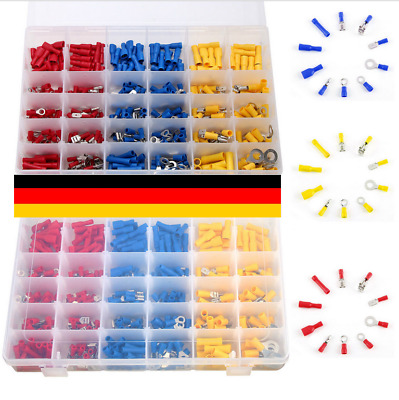 480pcs Neu Crimp Insulated Electrical Wire Terminals Assorted  Connectors Kit