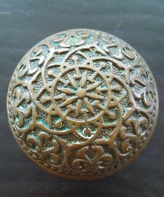 Antique Ornate Brass Bronze Door Knob - Victorian Eastlake Russell Erwin