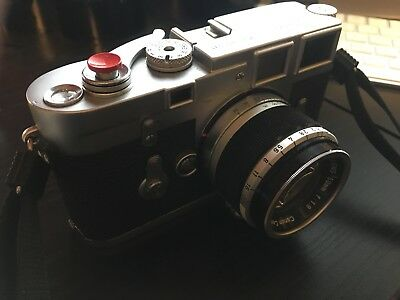 Leica M3 DS with Canon 50mm f1.8 LTM and adapter