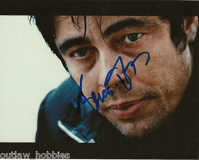 Benicio Del Toro Autographed Signed 8x10 Photo COA