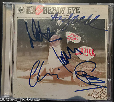 Beady Eye Different Gear Still Speeding Group Autographed Signed CD & Cover COA